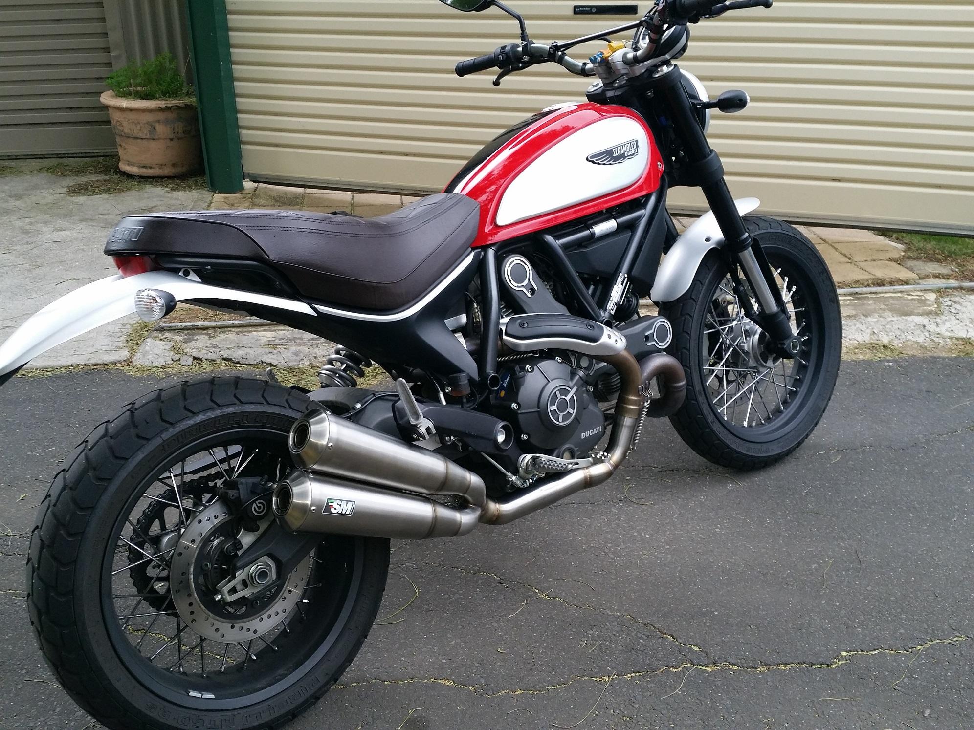 ducati scrambler 800 muffler silmotor torque power motorcycles. Black Bedroom Furniture Sets. Home Design Ideas