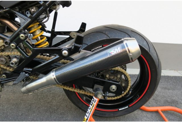 Ducati Monster 900 Exhaust Mufflers