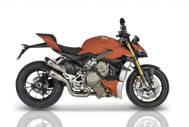 Ducati V4 Street Fighter performance exhaust mufflers